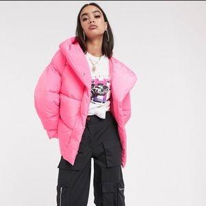ASOS hooded puffer jacket